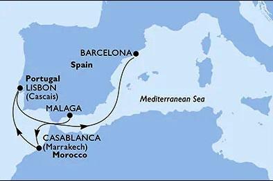 Splendida MSC Cruise 09 Nights / 10 Days