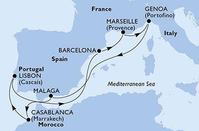 Splendida MSC Cruise 13 Nights / 14 Days