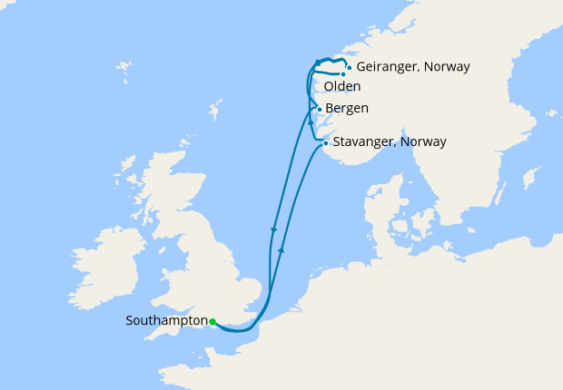Norwegian Fjords Cruise  10 Nights / 11 Days