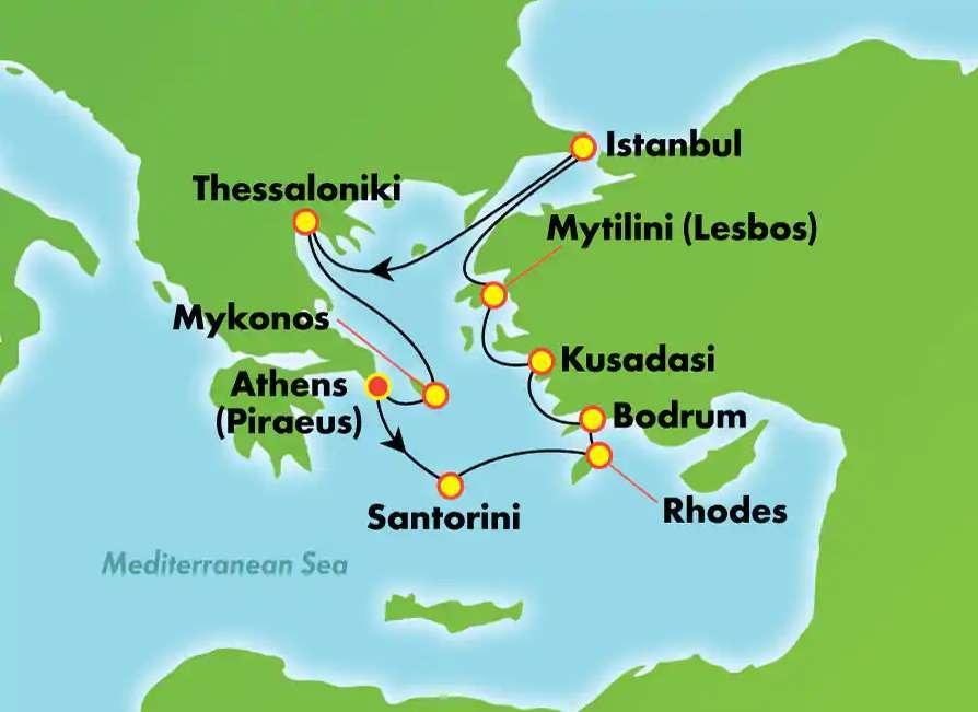 Greece, Turkey With Norwegian Cruise 13 Night / 14 Days
