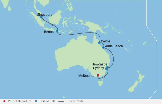 Australian Great Barrier Reef Cruise 21 Night / 22 Days