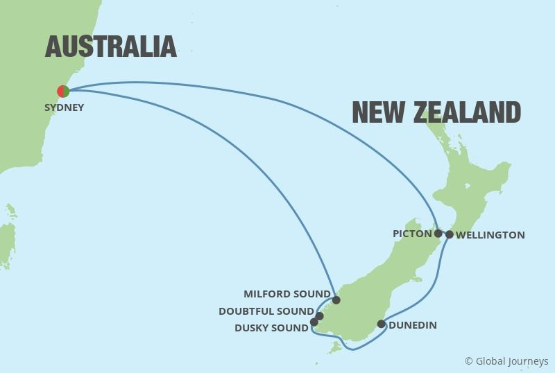 Sydney City Break With New Zealand Cruise 12 Nights /13 Days